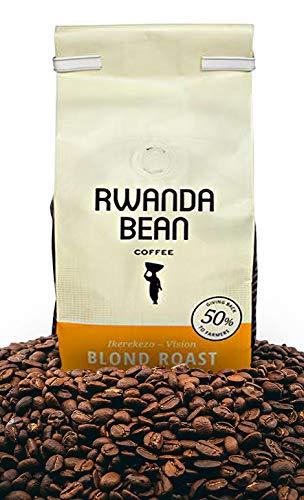 Rwanda Bean: Ikerekezo-Vision Premium Coffee Beans (BLONDE ROAST) Direct Trade - Keto Coffee - Organic Coffee - All Natural Coffee - Kosher Coffee - Whole Bean Coffee - Healthy Caffeine (12oz)