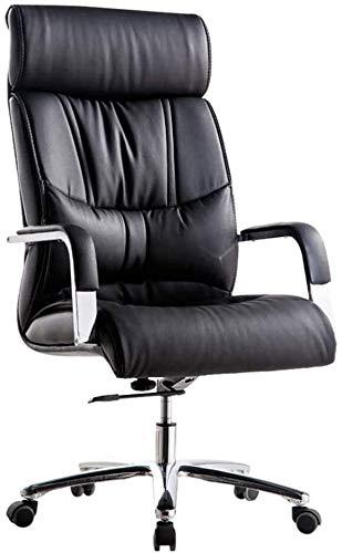 TGFVGHB Silla de oficina para el hogar Silla ejecutiva de cuero Boss reclinable silla de computadora para el hogar silla giratoria resistente soporte de chasis silencioso Pu polea