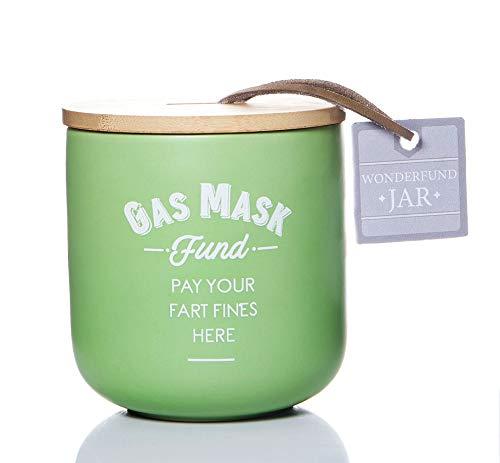 Boxer Gifts Spardose mit Gasmaske, Geldspardose, lustiges Wichtel-Geschenk für Ehemann, grün, 1 Stück
