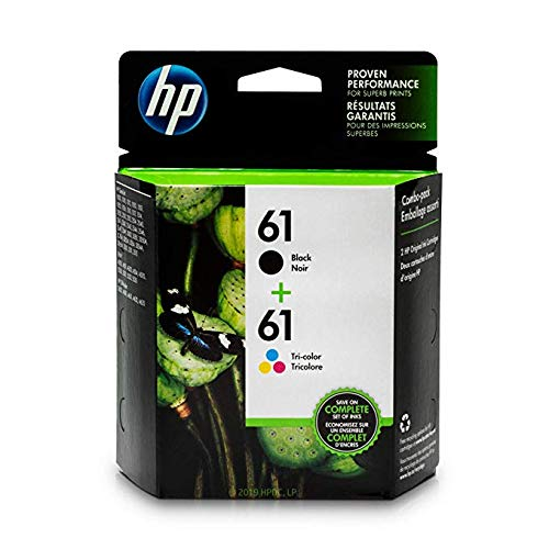 HP 61 Black & Tri-Colour Original Ink, 2 Cartridges (CR259FN)