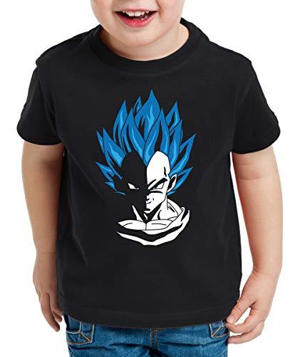 style3 Super Vegeta Blue God Mode T-Shirt pour Enfants, Taille:152