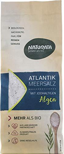 Naturata Bio Atlantik Meersalz mit jodhaltigen Bio Algen (2 x 500 gr)