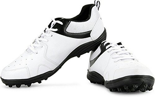 Vector X Blast Cricket Shoes, Men's UK 8 (White/Black)