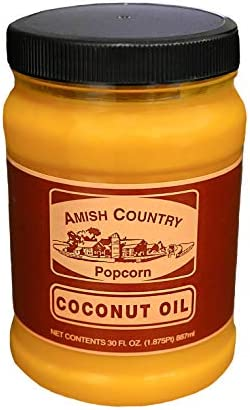 Amish Country Popcorn 30 Ounce Coconut Oil Vegan Tree Nut and Peanut Free 30oz Jar product image