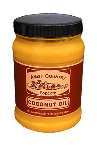 Amish Country Popcorn | 30 Ounce Coconut Oil | Vegan, Tree Nut and Peanut Free (30 oz Jar)