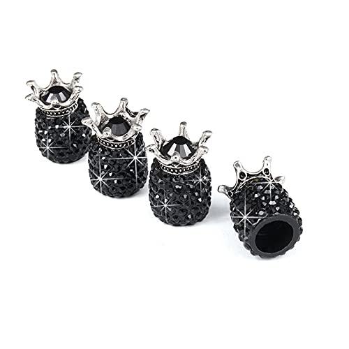 XZMALZYC Tapas de vástago de la válvula de la válvula de Cristal de 4pcs, Tapones de los neumáticos de Diamantes de imitación de Cristal Universal Hechos a Mano, Accesorios para Polvo Atractivo