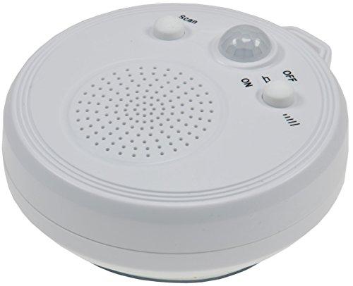 ChiliTec Dusch Radio mit Bewegungsmelder DR-2 Saugnapf Ø 8cm I Analog FM Radio 3X AA Batterie Wasserdicht I Weiß