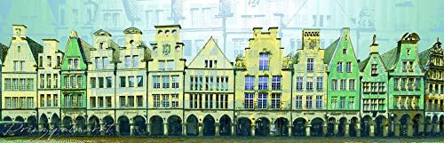 StadtKUNST - das Original: Bild auf Aluminium Prinzipalmarkt Münster Format 50x150
