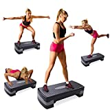 Fitness Aerobic Step Exercise Stepper Platform with Risers