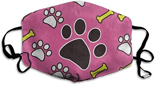 Preisvergleich Produktbild Staubdicht waschbar Wiederverwendbare rosa Hund Pfotenabdruck Knochen Mund Abdeckmaske Atemschutz Keimschutz Sicherheit warm Winddichte Maske