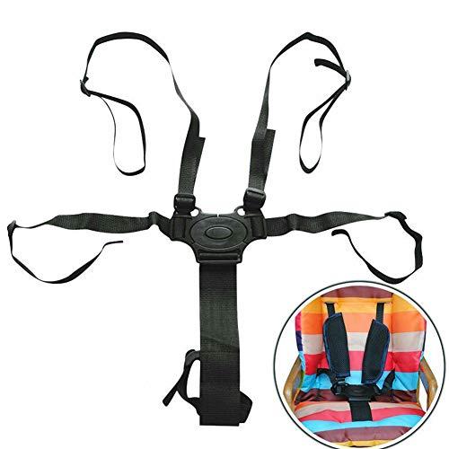 Cintura di sicurezza regolabile universale a 5 punti con spallacci per passeggino, seggiolone, carrozzina (cintura di sicurezza per bambini a 5 punti)