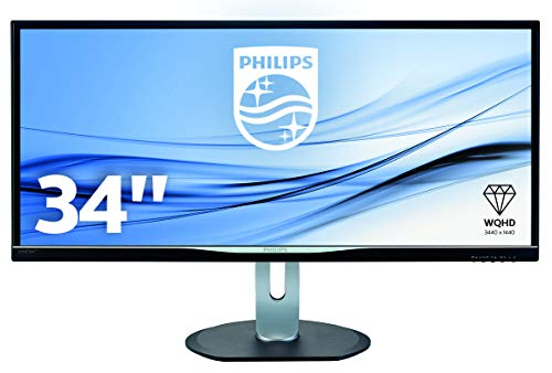 Philips BDM3470UP/00 86 cm (34 Zoll) Monitor (VGA, DVI, HDMI, Displayport, 4x USB, 3440 x 1440, 60 Hz, 5 ms, Pivot) schwarz