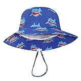DRESHOW Sombrero para el sol Playa de verano UPF 50+ Protección solar Bebé niño sombreros Sombrero de sol para niños pequeños Cap para bebé niña Kid Bucket Hat