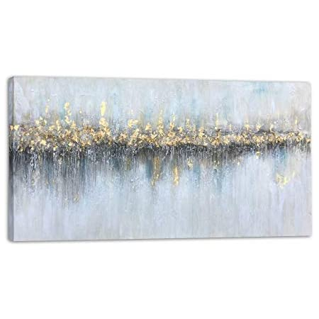 Blc Abstract Painting Prints On Wrapped Canvas Wall Art Decoration For Office Living Room Bedroom Glowing From Afar 40x20 Inch Posters Prints