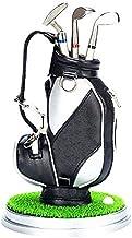 Golfbag com Base Miniatura Bolsa de Golf Bag + Bola + 3 Tacos Canetas - 19cm