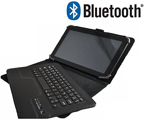 Beschermhoes met afneembaar Bluetooth-toetsenbord voor tablet HP Omni 10 5600, 10,1 inch, zwart