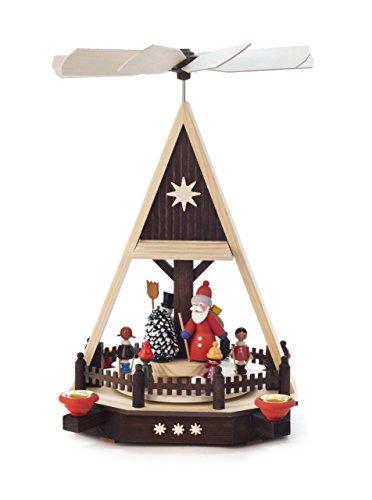 Pyramide-Winterkinder, Weihnachtsmann, Schneemann