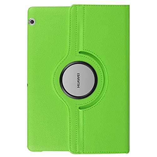 LIUCHEN Funda para tablet Huawei Mediapad T5 10 T3 9.6 '8 7.0 Wifi BG2-W09 AGS-W09/L09 KOB-L09/W09 360 Funda giratoria de cuero PU, verde, T3,8 KOB, L09 KOB, W09