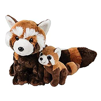 Adventure Planet Birth of Life Red Panda with Baby Plush Toy 11  H