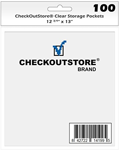 (50) CheckOutStore Clear Storage Pockets for Storing 12 x 12 Cardstock Paper Used for Rubber Stamping & Scrapbooking… |