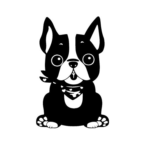 PUBSKFKJ 10.1X15.5Cm Vinyl Decal Pet Puppy Dog French Bulldog Animal Car Stickers Decor-A