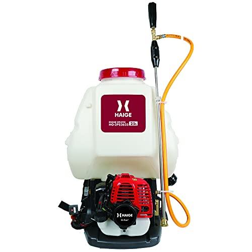 HAIGE エンジン噴霧器 動噴/動力噴霧器 背負式 25Lタンク 2サイクル エンジン式 除草剤 消毒 HG-2PS2625