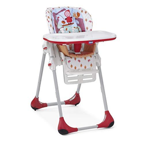 Chicco Polly - Trona 2 en 1 para niños de 6 meses a 3 años, 10 kg, color rojo