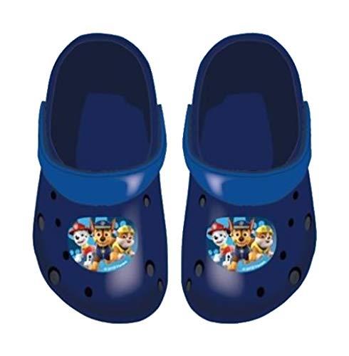 Ozabi Sabot - Ciabatte per bambini con licenza Fantasia, Multicolore (870506 Paw Patrol Marine), 33/34 EU