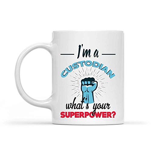 shenhaimojing Weiß Porzellan Mug,Lustig Bedruckte Tasse,Sprüchetasse,Keramik Teebecher,Porzellantasse Ich Bin Eine Depotbank was Ist Deine Supermacht-Depotbank?