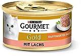 PURINA GOURMET Gold Raffiniertes Ragout Katzenfutter nass, mit Lachs, 12er Pack (12 x 85g)
