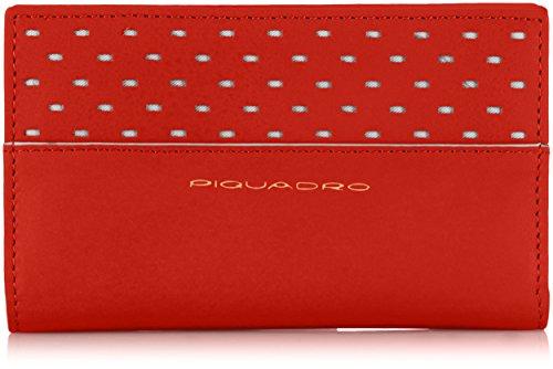 Piquadro Portafoglio, Collezione Ipazia, in Pelle, 16 cm, Rosso
