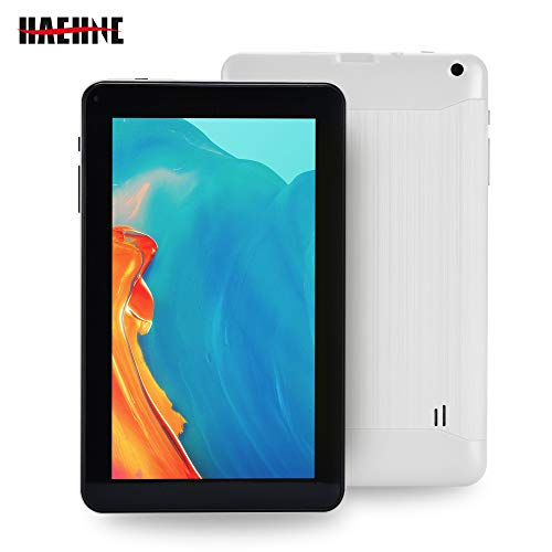 Haehne 9 Pollici Tablet PC, Google Android 6.0 Quad Core, 1.3GHz, 1GB RAM 16GB ROM, Doppia Fotocamera, WiFi, Bluetooth, per Bambini e Adulti, Bianco