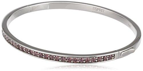 ESPRIT Collection Damen-Armreif 925 Sterling Silber rhodiniert Glas Zirkonia Perseus Berry pink ELBA91039E600