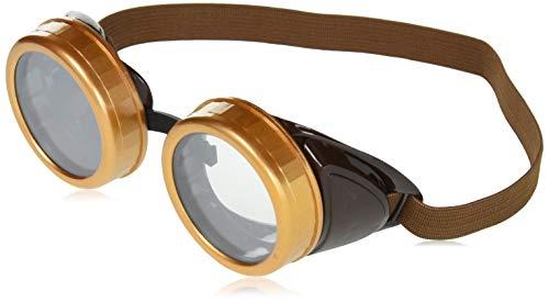 Forum Novelties - AC5676 - Lunettes aviateur marrons steampunk