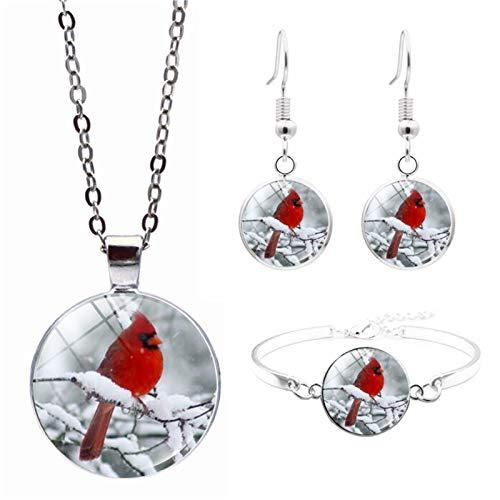 Taloit Cardinals Birds - Collar con colgante de recuerdo para amor, diseño ligero, regalo de pérdida familiar