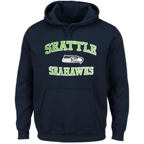 Amazon.com   Majestic Athletic Seattle Seahawks NFL Men s Home Turf Pullover  Hoodie Navy Blue Big   Tall Sizes (4XT)   Sports   Outdoors b38c93fcb