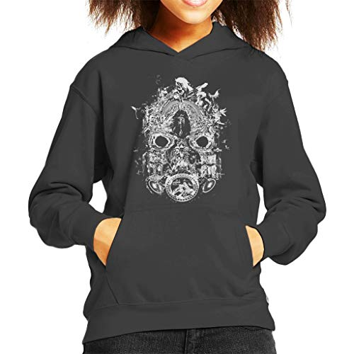 Cloud City 7 Borderlands 3 Masker van Mayhem Wit Print Kid's Hooded Sweatshirt