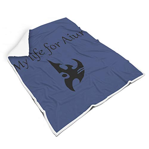 EUNNT Mein Leben für Aiur Tagesdecke Angenehm Warm Bettcouch Decke White 150x200cm
