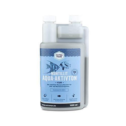 Nutramare Montillit Aqua-Aktivton 1L | 100% natürlicher Aquarium-Wasserklärer für kristallklares Aquarium-Wasser