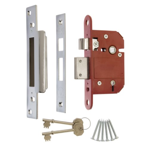 ERA 362-61 3-inch 76mm 5-Lever Maximum Security BS Mortice Sashlock with Chrome Effect