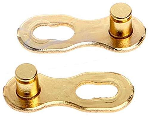 JYV Conector de Cadena de Bicicletas MTB Enlace rápido Cadena de Bicicletas, Compatible con 3/7/8/9/10/11 Cadena de Bicicleta de Velocidad Conector del Conector del Conector (Size : 11 Speed Gold)