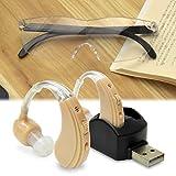 集音器 USB 充電式 両耳 2個セット (メガネ型 拡大ルーペ付) 福耳v2 FUKU MIMI ver.2 全6種類のイヤーピース付 JTT Online USBFUKUMIV2