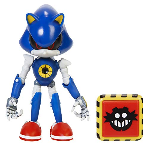 """Sonic The Hedgehog 4"""" Modern Metal Sonic Action Figure with Trap Spring Accessory"""