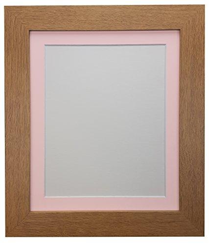 FRAMES BY POST Cadre Photo en chêne avec Support en Plastique Rose 30 x 24 cm