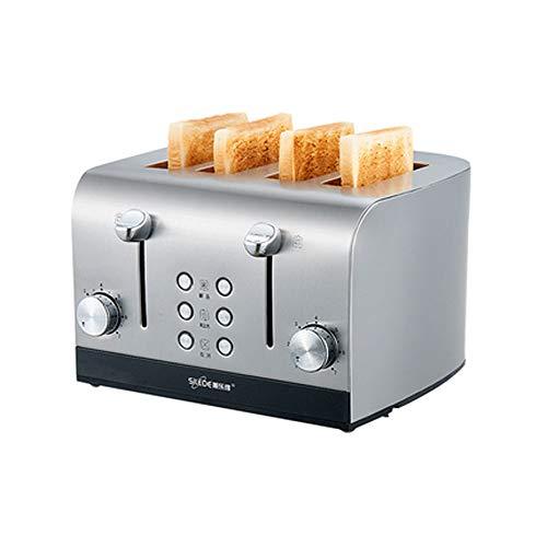 Guoz Tostadora,Mini Tostada para Uso doméstico,máquina de Desayuno automática multifunción,horneado de Doble Cara,se Puede Calentar en Secciones,Bandeja para Hornear ensanchada de 3,8 cm