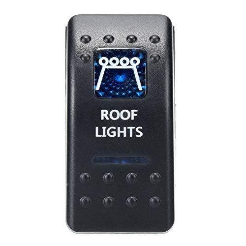 LHaoFY Interruptor de automóviles de piezas de automóviles 1 unids 12V 24V Barco de automóviles CARAVAN CAMPANTES DE ROCKER A prueba de rockeros impermeables Barra de luz LED azul dual 4x4