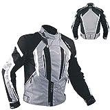 バイクオートバイ100%防水CE Armours Textile Thermal TexジャケットSonic X-Large ブラック T53---GREYXL