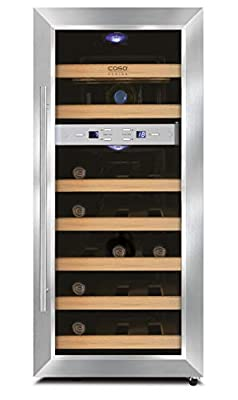 Caso Wine Duett 21 - wine coolers (freestanding, 7-18 °C, 10-18 °C, Stainless steel, Black, LED) by Caso