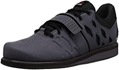 BREATHABLE AND DURABLE MATERIAL: These weightlifting sneakers feature a full-grain leather toe and an air mesh tongue on the upper for support and breathability EFFICIENT FOOT SUPPORT: These athletic trainers feature the Powerbax TPU plate and a dual...