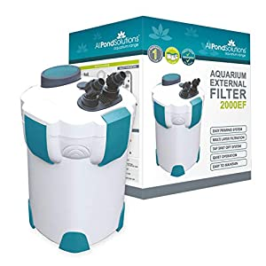 AllPondSolutions 2000EF Aquarium External Fish Tank Filter 2000L/H – Free Filter Media